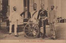 H. H. The Sultan Of Johore And Officers - Malaysia
