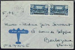 A.E.F. Enveloppe En F.M. Complément 3 F Paire N° 13, De Oubangui Chari Pour Barbezieux (Fr) 29 Février 1940 - B/TB - - Covers & Documents