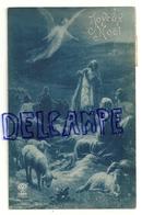 Joyeux Noël. Ange, Bergers, Moutons. NOYER 3965. Signée Renault. 1910 - Anges