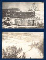 Grand-Halleux (Vielsalm). Lot De 2 Cartes-photos. Pensionnat St. Jean Baptiste De La Salle En Hiver . - Vielsalm