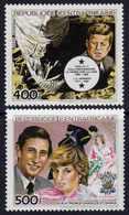 Centrafricaine P. A.  N° 303 / 04 XX J.F. Kennedy Et Charles Et Diana, Les 2 Valeurs Sans Charnière, TB - Centrafricaine (République)