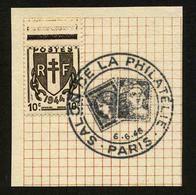 FRANCE - YT 670 - TIMBRE OBLITERE - OB SALON DE LA PHILATELIE 1946 - Usati