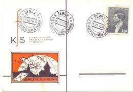 CECOSLOVACCHIA POST CARD 1946 SEMILY   (FEB201023) - Cecoslovacchia