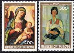 Centrafricaine P. A.  N° 305 / 06 XX Tableaux : Courrège Et Modigliani , Les 2 Valeurs Sans Charnière, TB - Centrafricaine (République)