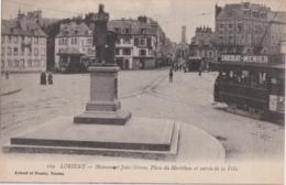 Bv - Cpa LORIENT - Monument Jules Simon, Place Du Morbihan Et Entrée De La Ville (tramway) - Lorient