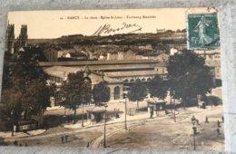 54 Nancy 1908 La Gare Kiosque Tram Eglise St Leon Faubourg Stanislas - Nancy