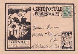 Entier Postal - Carte Illustrée ORVAL - N° 5 N° 5 35c Vert  - Vu  N° 6 De Montaigu - Ganzsachen