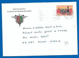 Armées - Direction Centrale Du Service Essences Des Armées - 2004 (39) - Oblitérations Mécaniques (flammes)