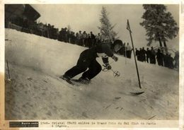CRISTEL CRANZ ENLEVE GRAND PRIX SKI CLUB PARIS A MEGEVE  20*15CM PHOTO PARIS SOIR - Sporten