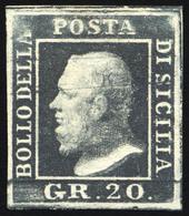 """1859  20 GRANA GRIGIO ARDESIA N.13 """"POSIZIONE 5"""" NUOVO SENZA GOMMA - UNUSED NO GUM - Sicilia"""