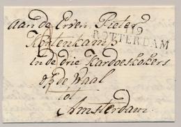 Nederland - 1811 - Vouwbrief Van 119 / ROTTERDAM Naar Amsterdam - Departement-stempel Op Briefdeel - Nederland
