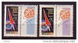 RUSSIA \ RUSSIE - 1962 - Anniversaire Du Vol Cosmique De Gagarine - 2v** Det. - Neufs
