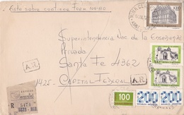 ARGENTINA CIRCULATED ENVELOPE, FROM MINACLAVERO TO CAPITAL FEDERAL, IN 1979 REGISTERED -LILHU - Storia Postale