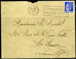 """France  Oblitération Mécanique """"Paquebot""""  Londres   1938 - Maritieme Post"""