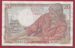 """20 Francs """"Pêcheur"""" Du 10/03/1949.A.----TTB+---ALPH.R.193---AUCUN TROU D EPINGLE - 20 F 1942-1950 ''Pêcheur''"""