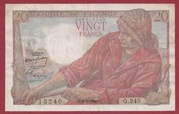 """20 Francs """"Pêcheur"""" Du 09/02/1950.C----TTB+---ALPH.Q.243---ALPHABET PEU COMMUN - 20 F 1942-1950 ''Pêcheur''"""