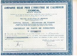 """Titre Ancien - Compagnie Belge Pour L'Aluminium """"COBEAL"""" - Titre De 1967 - Mines"""