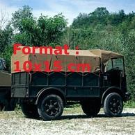 Reproduction D'une Photographie Ancienned'un Camion De Profil De Marque SPA De 1940 - Reproductions