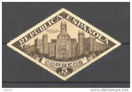 ESBE17SH-2965TARSC.Spain Espagne.BENEFICENCIA.PALACIO DE COMUNICACIONES  1937.(Ed  SH17**).sin Charnela.MAGNIFICO - Arquitectura