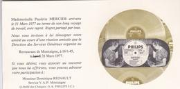 """¤¤   -   Carton D'Invitation Avec Une Enveloppe De La Société """" PHILIPS """"    - Voir Description   -   ¤¤ - Publicité"""