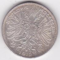Autriche 2 Corona 1912 Franz Joseph I, En Argent. KM# 2821 - Autriche