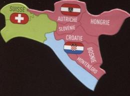 Magnet Brossard Suisse Autriche Hongrie Bosnie Croatie Slovenie Montenegro - Magnets