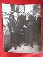 MAILLANE FREDERIC MISTRAL FELIBRE ET POINCARE PHOTO CACHET CHUSSEAU FLAVIENS A PARIS 1913 - Persone Identificate