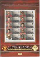 Gran Bretagna, 2002 Calcio, 100° Ann. Del Manchester United, Smiler,  Perfetto - Personalisierte Briefmarken