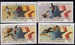 Centrafricaine  N° 552 / 55 XX Jeux Olympiques De Los Angeles  Les 4 Valeurs Sans Charnière, TB - Centrafricaine (République)