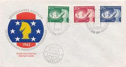 DC-2381 FDC 1962 - NETHERLANDS ANTILLES - CHESS SCHAKEN SCHACH COVER - SPEC. POSTMARK - Schaken