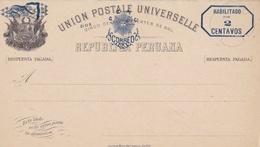 PEROU :  Entier Postal Neuf De 2 Centavos - Pérou