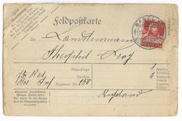 1915 - CARTE REPONSE FELDPOST AFFRANCHIE De BASEL (SUISSE) => 250 REGT INFANTERIE ALLEMANDE En RUSSIE - Military Post