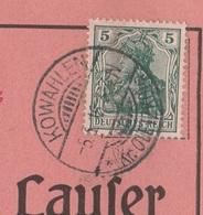Ostpreussen Deutsches Reich Karte Mit Tagesstempel Kowahlen Kr Oletzko 1916 RB Gumbinnen - Allemagne