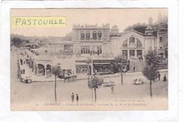 CPA :  14 X 9  -  42.  -   BIARRITZ.  -  Place De La Liberté, La Gare B.-A.-B. Et Le Terminus - Biarritz