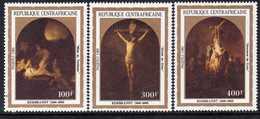 Centrafricaine  N° 564 / 66 XX Pâques : Tableaux De Rembrandt Les 3 Valeurs Sans Charnière, TB - Centrafricaine (République)