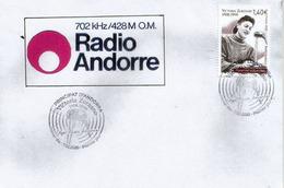 ANDORRA. Victoria Zorzano - '' Aqui Radio Andorra '' ! El Primer Locutor De Radio-Andorra 1939. FDC - Telekom