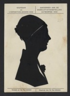 CARTE SILHOUETTE * FEMME * DECOUPEES * SILHOUETKAART * DAME * SOUVENIR EXPO 1930 ANVERS * EXPO ANTWERP 1930 - Silhouettes
