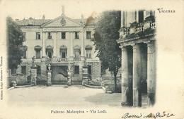 "6569 ""VICENZA-PALAZZO MALASPINA-VIA LODI""-CART. POST. ORIG. SPED.1900 - Vicenza"