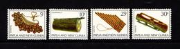 PAPUA  NEW  GUINEA    1969    Musical  Instruments    Set  Of  4    MNH - Papua New Guinea
