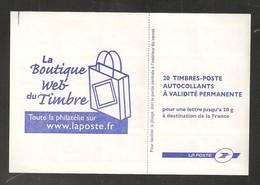 France, 3744-C3, Carnet Neuf, Non Plié, TTB, Carnet DAB, La Boutique Web Du Timbre, Marianne De Lamouche - Carnets