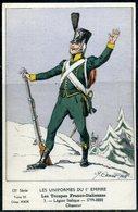 Cpa Illustrateur  Signée  Cenni   Costume Troupes Franco-Italiennes  Chasseur  (1er Empire) - Illustratori & Fotografie