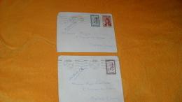 LOT 2 ENVELOPPES DE 1957.../ PORT LYAUTEY MAROC POUR NEVERS FRANCE...CACHET + TIMBRES.. - Maroc (1956-...)