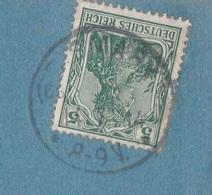 Ostpreussen Deutsches Reich Karte Mit Tagesstempel Bismark LK Heydekrug Memelland RB Gumbinnen 1914 - Allemagne
