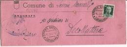 Luogotenenza Soveria Mannelli CZ 15feb1945 Modulo Comune X Decollatura Imperiale SF C60 Isolato - 5. 1944-46 Lieutenance & Umberto II