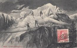 CPA ( Surrealisme) Femme Montagne (b.bur) - Autres