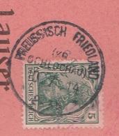 Westpreussen Deutsches Reich Karte Mit Tagesstempel Preussisch Friedland Kr Schlochau 1914 RB Marienwerder - Allemagne