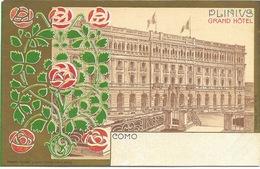 Come - Plinius Grand Hôtel - Carte Ancienne Avant 1904 - Art Nouveau - Como