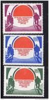 Centrafricaine N ° 599 / 601 XX  Journée Nationale Des Personnes Handicapés Et Du 3ème Age Les 3 Vals  Sans Charnière TB - Centrafricaine (République)