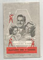 Publicité , Filature Des 3 SUISSES , Catalogue Automne-hiver 1950 , 24 Pages , 5 Scans ,  Frais Fr 3.15 E - Advertising