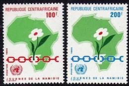 Centrafricaine N ° 592 / 93 XX   Journée De La Namibie La Paire Sans Charnière TB - Centrafricaine (République)